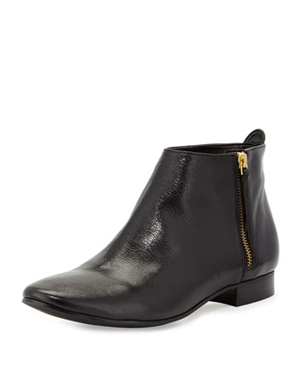 Belmont Leather Zip Bootie