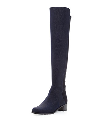 Reserve Pindot Over-the-Knee Boot, Nice Blue