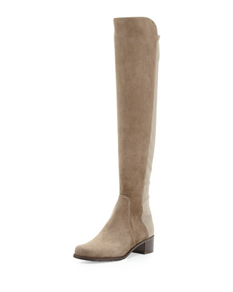 Reserve Suede Over-the-Knee Boot, Praline