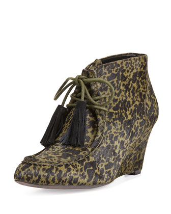 Mia Calf Hair Wedge Bootie