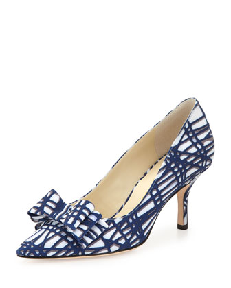 Caron Printed Fabric Pump, Daze