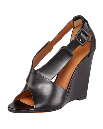 Crisscross Wedge Sandal