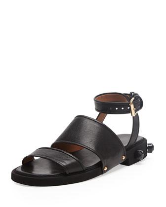 Strappy Ankle-Wrap Flat Sandal