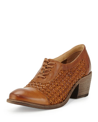 Maggie Woven Leather Oxford