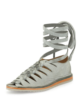 Holly Nubuck Gladiator Flat