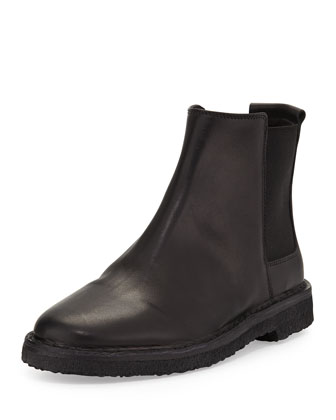 Cody Shearling Fur-Lined Chelsea Boot, Black