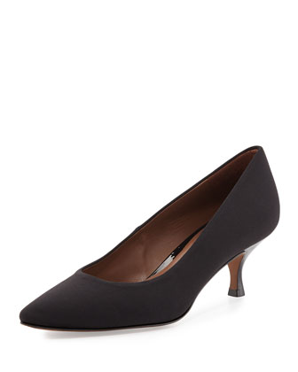 Rome Crepe Low-Heel Pump