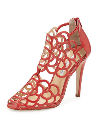 Gladia Scalloped Sandal, Carnation