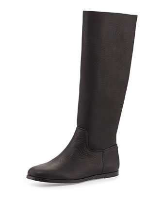 Ylva Leather Knee Boot, Black