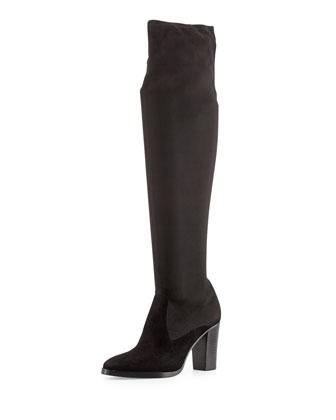 Joan Suede Over-the-Knee Boot