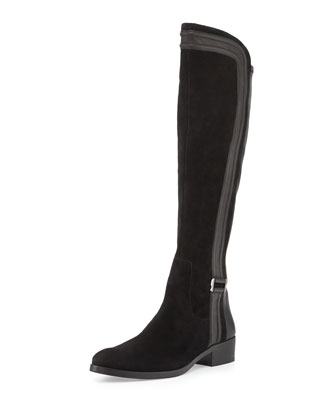 Nima Suede and Leather Knee Boot