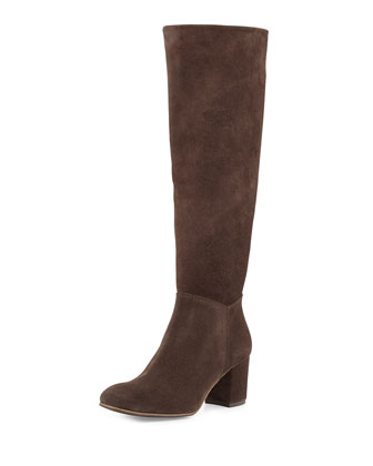 Xia Suede Knee Boot, Silt