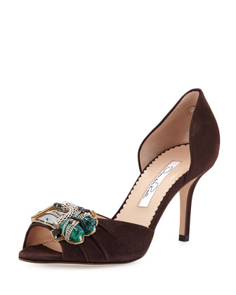 Olivia Suede d'Orsay Pump, Brown