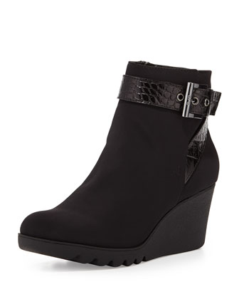 Mico Stretch Wedge Bootie, Black