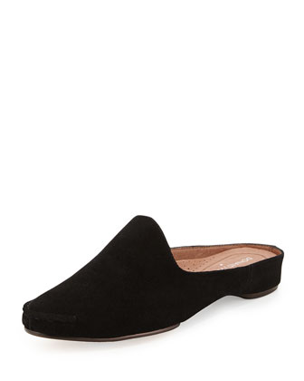 Bobbi Casual Suede Slide, Black