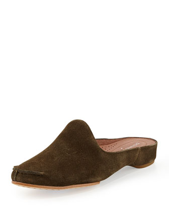 Bobbi Casual Suede Slide, Olive