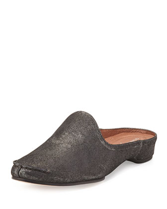 Bobbi Casual Metallic Slide, Pewter