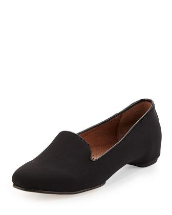 Bengi Crepe Elastic Comfort Loafer, Black
