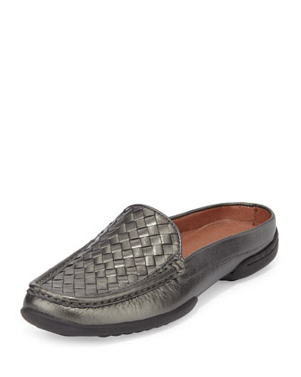 Vode Woven Mule Slide, Pewter