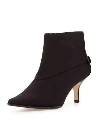 Loli Crepe Ankle Boot, Black