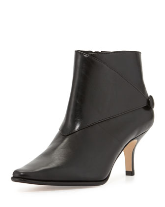 Loli Leather Ankle Boot, Black
