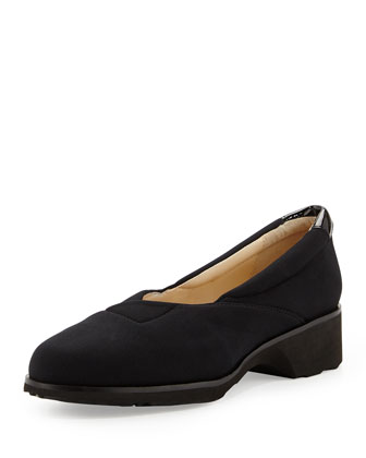 Tarah Envelope Stretch Slip-On, Black