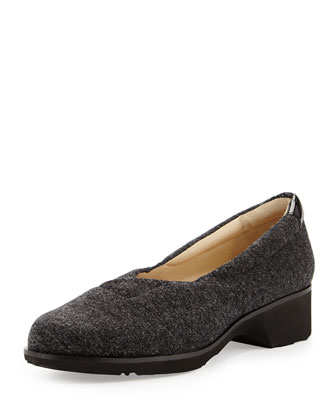 Tarah Envelope Knit Slip-On, Charcoal