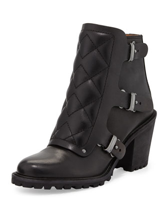 Quilted Moto Ankle Bootie