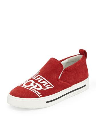 Bunny Hop Slip-On Skate Sneaker, Red