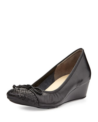Tali Ballerina Wedge Pump, Black