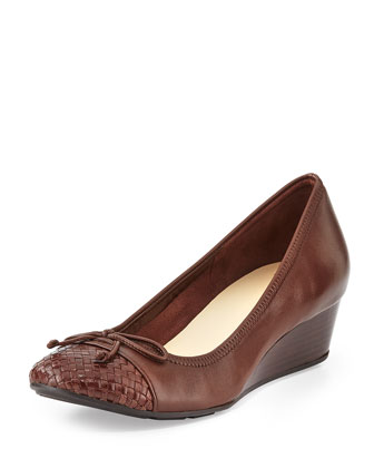 Tali Ballerina Wedge Pump, Chestnut