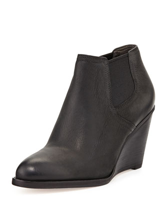 Balthasar Leather Bootie, Black