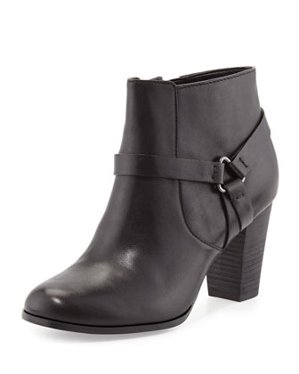 Calixta Leather Ankle Bootie, Black