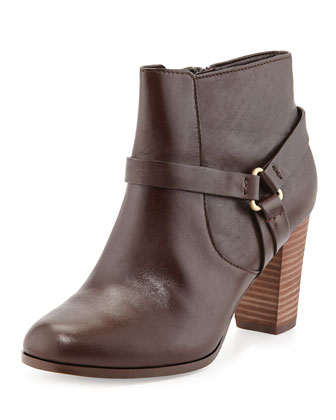 Calixta Leather Ankle Bootie, Chestnut