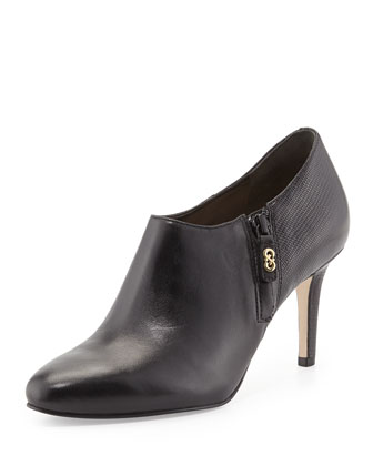 Raquel Leather Ankle Boot, Black