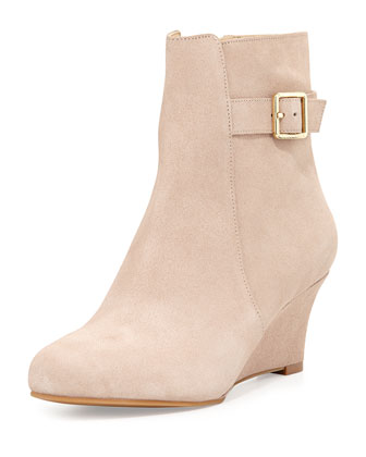 Aimee Waterproof Wedge Bootie, Maple Sugar