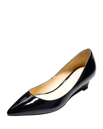 Bradshaw Leather Wedge Pump, Black