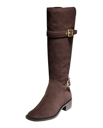 Indiana Waterproof Suede Tall Boot, Chestnut