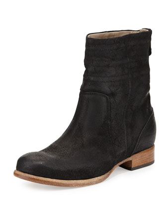 Pavia Suede Ankle Boot, Nero