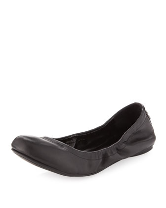Molly 1 Matte Leather Ballet Flat, Black