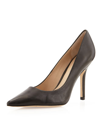 Sway II Pointy Leather Pump, Black