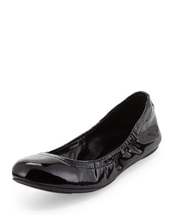 Molly Slip-On Patent Flat, Black