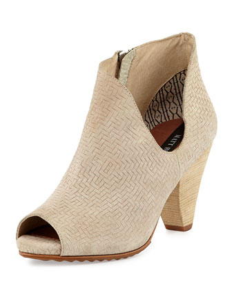 Jagg Woven Suede Bootie, Sand