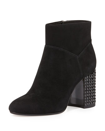 Arabella Stud-Heel Ankle Boot