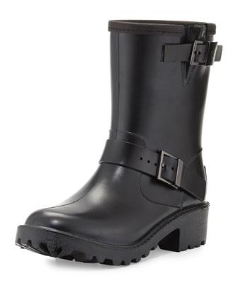 Devenport Short Rain Boot, Black