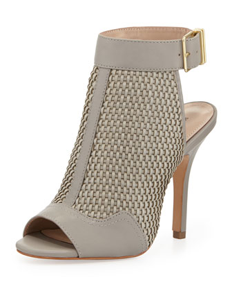 York Woven Leather Bootie, Steel