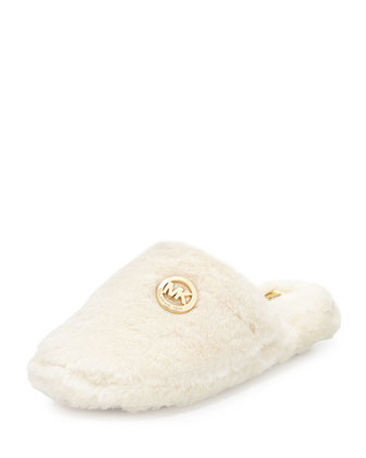 Jet Set Furry Slipper, Off White