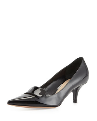 Baily Patent Low-Heel Pump, Black