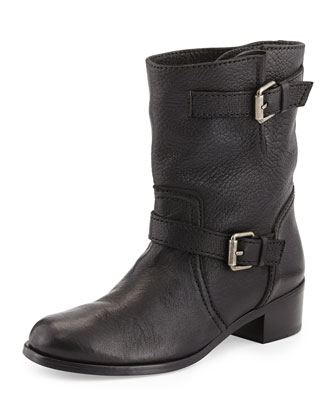 Max Short Moto Boot, Black