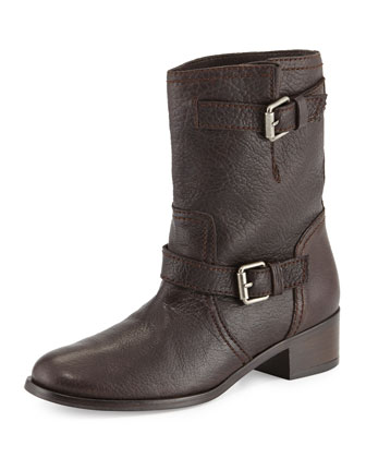 Max Short Moto Boot, Brown